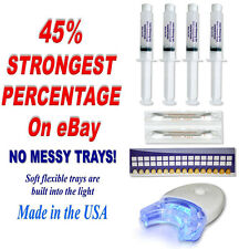 45% DENTAL PROFESSIONAL STRENGTH WHITE GEL TOOTH TEETH WHITENING KIT (1) Light