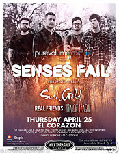 SENSES FAIL/SUCH GOLD/REAL FRIENDS/MAJOR LEAGUE 2013 SEATTLE CONCERT TOUR POSTER