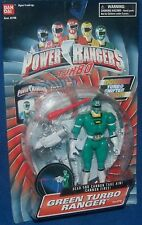 "Power Rangers Turbo Green Ranger Double Turbo Sifter Action NEW 5"" Factory Seal"
