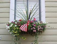 "36"" Wrought Iron Window Box, Hayrack Garden Planter"