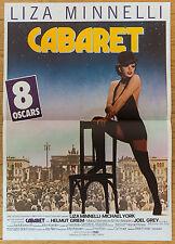 Affiche de cinéma : CABARET de BOB FOSSE