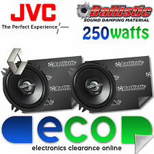 Renault Clio JVC 13cm 500 Watts 2 Way Rear Door Car Speakers & Sound Deadening