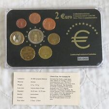 GERMANY 2006 COMMEMORATIVE 2 EURO IN 8 COIN EURO TYPE SET - pack/coa