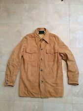 Vintage 50 60's Abercrombie & FITCH Suede Leather Jacket Shirt See  Description