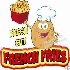 "French Fries Decal 14"" Fresh Cut Concession  Restaurant Food Truck Sticker"