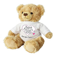 PERSONALISED MOTHERS DAY TEDDY MESSAGE BEAR Unique Mothers Day Gift Present Idea