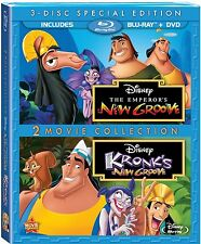 THE EMPEROR'S NEW GROOVE /KRONK'S NEW GROOVE (Disney) -  Blu Ray -Region free