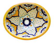 #138) MEDIUM 17x14 MEXICAN BATHROOM SINK CERAMIC DROP IN UNDERMOUNT BASIN