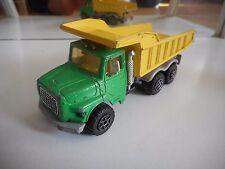 Majorette Dump Truck in Green/Yellow (Serie 3000)