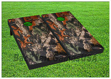 VINYL WRAPS Tree Leaves Camo Cornhole Board DECALS Bag Toss Game Stickers 65