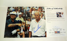 JACK NICKLAUS & ARNOLD PALMER DUAL SIGNED AUTOGRAPH 11X14 PHOTO PSA/DNA COA