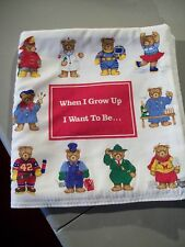 Children Complete Cloth, Fabric Soft Book-When I Grow Up I Want To Be - HANDMADE