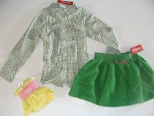 Gymboree Merry and Bright Girls Size 6 Button Top Shirt Leggings Skirt  NWT NEW