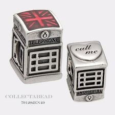 Authentic Pandora Sterling Silver Red Enamel London Calling Bead 791202EN49