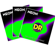 DR NEON ACOUSTIC GUITAR STRING MEDIUM LIGHT 12-54 COLOR: GREEN