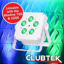 LEDJ White Slimline 5Q5 RGBW LED Light DMX DJ Disco Slim Par Party Uplighter  UK