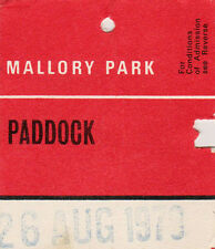 Mallory Park Paddock Entry Swing Ticket  26 August 1979