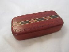 INLAID WOODEN BOX WITH HEART-SLIDE OPENING-GEOMETRIC DESIGN