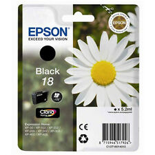 1 Black Genuine Epson XP-202 XP-205 XP-215 XP-305 XP-312 XP-315 Ink Cartridge