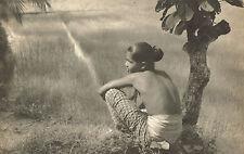 Vintage Lionel Wendt Asian Girl Ceylon Field Landscape Photo Photogravure Print