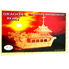 3D Wood Construction Puzzle - Dragon Boat