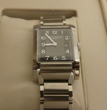 Baume & Mercier Hampton Classic Ladies Charcoal Dial Swiss Quartz Watch 10021