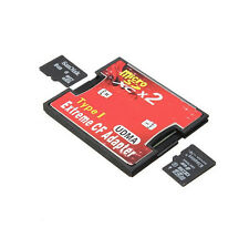2 Port Micro SD TF SDHC To Type I 1 Compact Flash Card CF Reader Adapter V