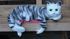 Kater Tierfigur Figur Katze Kantenhocker Liegend Lebensgroß Garten Groß W+S
