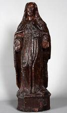 Sculpture: Vierge en bois du 16 ème siècle, 72 cm de haut, 7 Kg., Une Sainte