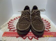 Minnetonka Bootie Moccasins, brown suede, size  9 women's, EUC