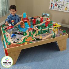 KidKraft Waterfall Station Train Set and Table Kids Boys Toy Play Railway Track