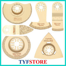 6 pcs carbide oscillating multi tool saw blades for Tile grout mortar for Fein
