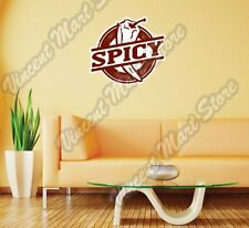 Spicy Chili Pepper Restaurant Grunge Stamp  Wall Sticker Room Interior Decor 22""
