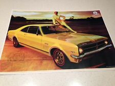 HOLDEN  GTS VINTAGE MUSCLE RACING CAR POSTER-BIG 600MM BARGAIN ATTRACTIVE PRICE
