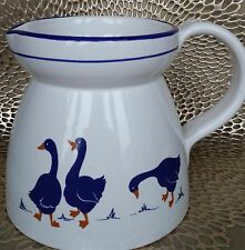 Vintage Rosenthal Netter Blue Geese Large Pitcher Made in Italy