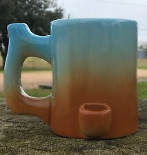 NEW Happy Mugs Wake n bake Pipe Coffee mug *Imperfects* Blue Haze