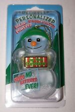 OUR FIRST CHRISTMAS Personalized Solar Powered Snowman Ornament/Gift Tag NEW