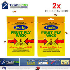 2x Fruit Fly Trap Wick Searles® Replacement for Professional FruitFlyWaspCatcher