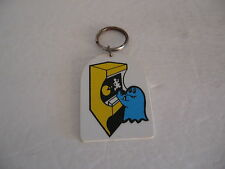 VINTAGE 1980'S PACMAN MS PACMAN  ***  blue ghost key chain     ***  RARE  !!!