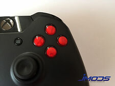 Xbox One 1 Custom ABXY Buttons with Letters Mod Kit (Red)