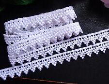 #1 Venise Lace, 1/2 inch wide  white color  selling by the yard