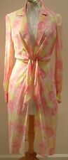 ESCADA PINK YELLOW FLOWERS SILK TUNIC DRESS 38 LUX!