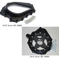 Glass See through Engine Clutch Stator Covers for 04 05 06 07 HONDA CBR 1000RR