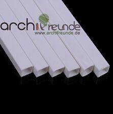 5 Stk. ABS Viekantrohr (5,0mm x 5,0mm) x 500mm Modellbau Rohr, kunststoff, weiß