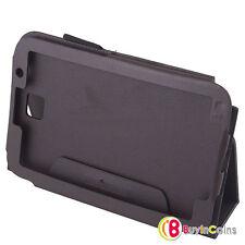 Negro con aspecto de cuero Funda Stand Soporte Samsung Galaxy Note Tablet 8.0 N5100