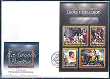 CENTRAL AFRICA 2012 EUGENE DELACROIX SHEET FIRST DAY COVER