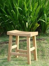 Curved Seat Shower Bath Spa Stool Bench Grade-A Teak Wood Outdoor Garden Patio
