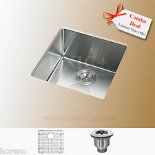"17"" CSA Approved Stainless Steel Small Radius Kitchen Bar Sink KUR1718 Combo Set"