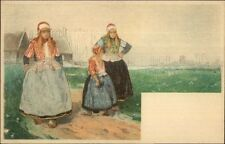 Holland Native Dutch People H. Cassiers? c1900 Postcard - Women & Child