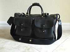 PRICE DROP!! 2013 GHURKA No. 2 Express Vintage Black Leather Carry-on Duffel Bag